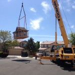 Crane over shed move